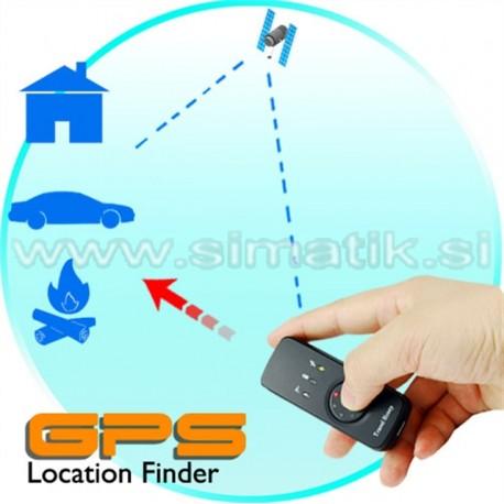 GPS sprejemnik + iskalec lokacije + shranjevalnik poti