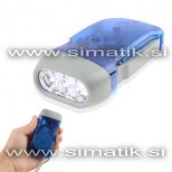 Ultra svetla LED dinamo svetilka z generatorjem