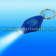 Mini LED svetilka (obesek za ključe) - modra