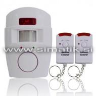 Hišni alarm s senzorjem gibanja in dvema daljincema