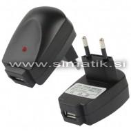 Hišni USB polnilec 1000mA - 230V