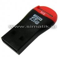 USB čitalec Micro SD kartic in USB ključ