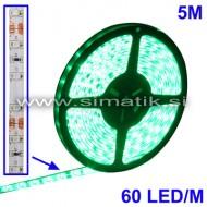 LED trak / ZELEN / 60 LED / 3528 SMD / vodoodporen / 12V / 4,8W