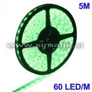 LED trak / ZELEN / 60 LED / 5050 SMD / vodoodporen / 12V / 7,2W