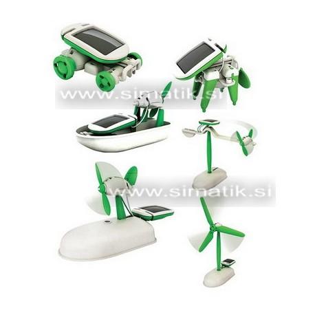 Solarni robot 6v1 - 6 igrač na sončne celice