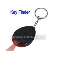 Iskalnik ključev z LED lučko - črn