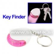 Iskalnik ključev z LED lučko - bel