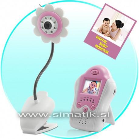 Video otroška varuška (brezžična), baby monitor - roza