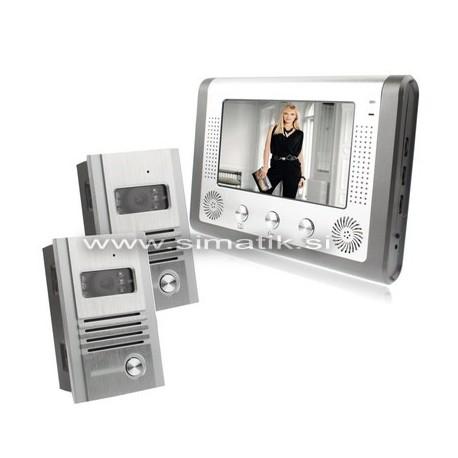 """2x Barvni video domofon z 7"""" LCD ekranom"""
