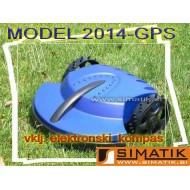 Robotska kosilnica - MODRA 2014-GPS