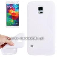 "TPU gel ovitek ""S-Line"" za Samsung Galaxy S5 - BEL (nedrseč)"