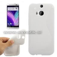 """TPU gel ovitek """"S-Line"""" za HTC One M8 - BEL (nedrseč)"""