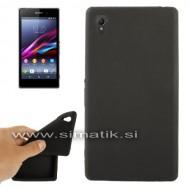 Silikonski ovitek za Sony Xperia Z1 - ČRN