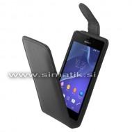 Flip etui za Sony Xperia Z3 Compact iz um. usnja (magnetno zap.)