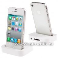 Polnilna postaja (Dock) za Apple iPhone 4 / 4S - BELA