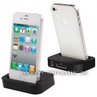 Polnilna postaja (Dock) za Apple iPhone 4 / 4S - ČRNA