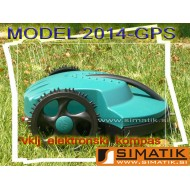 Robotska kosilnica - ZELENA 2014-GPS-LI